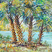 Four Palms Art Print