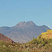 Four Peaks From The Apache Trail Art Print