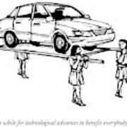 Four Roman Servants Carry A Car On A Canopy Like Art Print