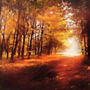 Four Seasons Autumn Impressions At Dawn Art Print