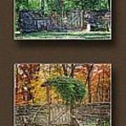 Four Seasons Collage Art Print