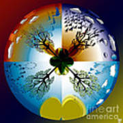 Four Seasons Roundel Art Print