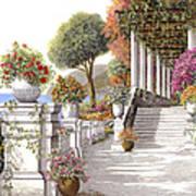 four seasons-summer on lake Como Art Print