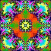 Four Square Spirals Art Print