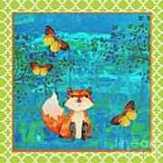 Fox-e Art Print