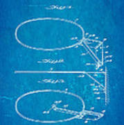 Fox Foldable Basketball Goal Patent Art 1952 Blueprint Art Print by Ian Monk