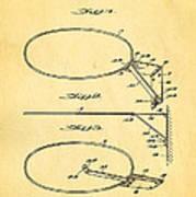 Fox Foldable Basketball Goal Patent Art 1952 Art Print by Ian Monk