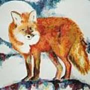 Fox In The Moon Art Print