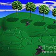 Fox Mound Art Print by Keith Dillon
