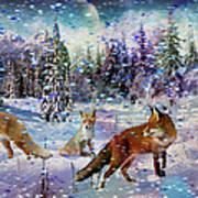 Fox Storm Art Print
