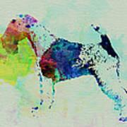 Fox Terrier Watercolor Art Print by Naxart Studio
