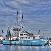 Shrimp Boat At Port Art Print