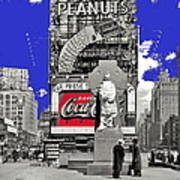 Fr. Duffy Statue Prior To Unveiling Coca Cola Sign Times Square New York City 1937-2014 Art Print