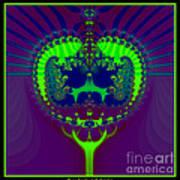 Fractal 25 Emerald Crown Jewels Art Print