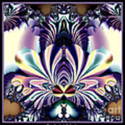 Fractal 26 Jeweled Tone Lotus Flower Art Print