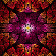 Fractal - Aztec - The All Seeing Eye Art Print