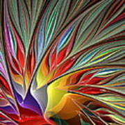 Fractal Bird Of Paradise Redux Art Print
