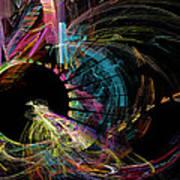 Fractal - Black Hole Art Print
