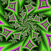 Fractal Dancing Shapes Art Print