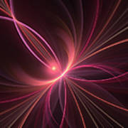 Fractal Dancing With The Light Art Print