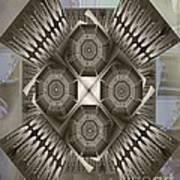 Fractal Design Number Nine Art Print by Doris Wood