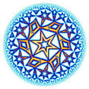 Fractal Escheresque Winter Mandala 1 Art Print