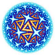 Fractal Escheresque Winter Mandala 10 Art Print