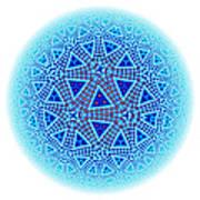 Fractal Escher Winter Mandala 5 Art Print