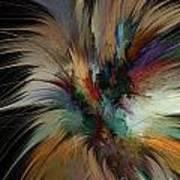 Fractal Feathers Art Print