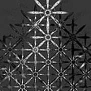 Fractal Flakes Art Print