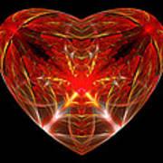 Fractal - Heart - Open Heart Art Print