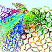 Fractal - Hummingbird Art Print