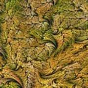 Fractal Leaf Mat-- 2 Art Print