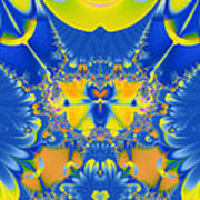 Fractal Owl Art Print