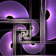 Fractal Purple Semicircles Art Print