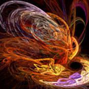 Fractal - Rise Of The Phoenix Art Print