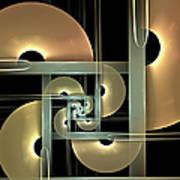 Fractal Semicircles Art Print