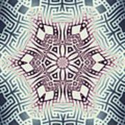 Fractal Snowflake Pattern 1 Art Print