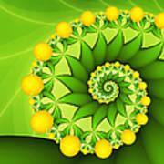 Fractal Sweet Yellow Fruits Art Print
