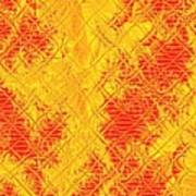 Fractalia For Red And Yellow Colors V Art Print