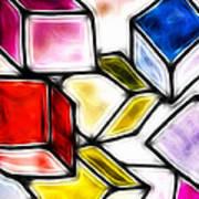 Fractalius Cubes Art Print by Sharon Lisa Clarke