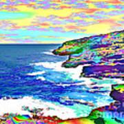 Fractalona Coast Art Print