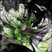 Fractured Bloom  Art Print