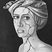 Fractured Identity Bw Art Print