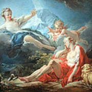 Fragonard's Diana And Endymion Art Print