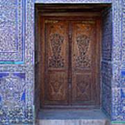 Framed Door In Kheiva Art Print