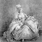 France Court Life, 1778 Art Print