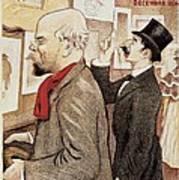 France Paris Poster Of Paul Verlaine And Jean Moreas Art Print