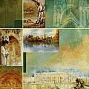 France Unesco World Heritage Poster Art Print