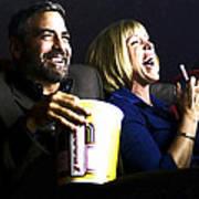 Frances Mcdormand And George Clooney @ Burn After Reading Art Print